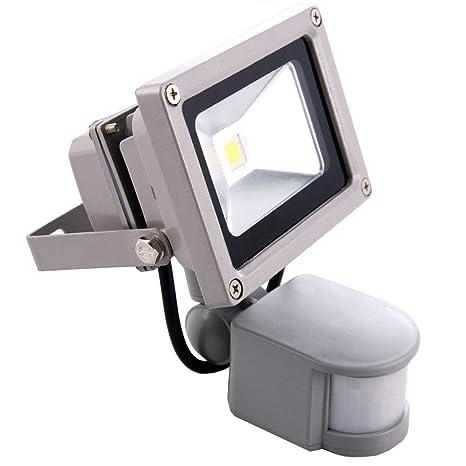 Sourcing4U X1-10w-FL-GR-C-PIR Reflector LED, 10W