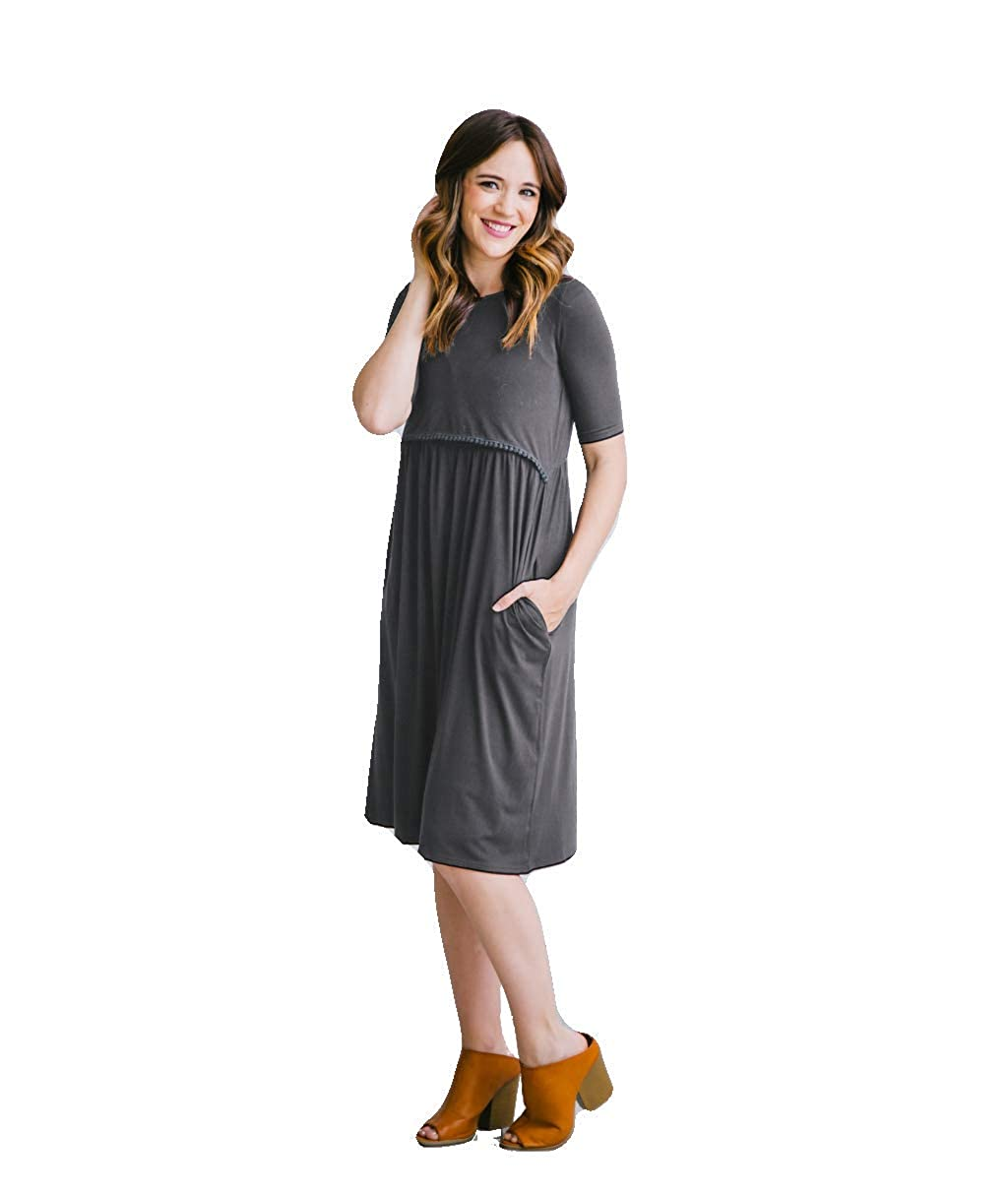 Undercover Mama DRESS レディース B07DHW7WRR Medium|グレー グレー Medium