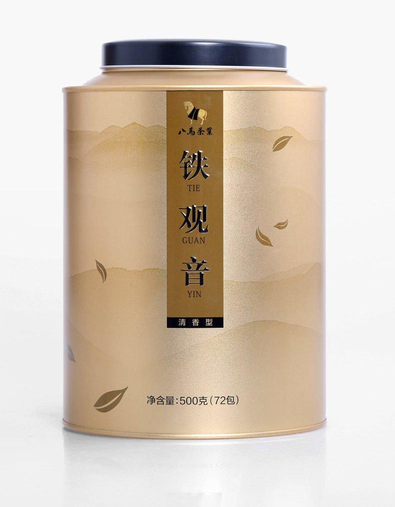 Eight horses tea Bama tea Anxi TieGuanYin fragrance round tank 500g 八马茶业乌龙茶 清香型