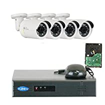 GW Security VD4C4CH1337IP 4 Channel 1080P NVR Surveillance System with 4 x 1.3MP 960P Outdoor or Indoor Onvif PoE IP Security Camera 1 TB Hard Drive