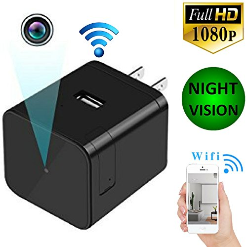 51ieVx674OL - NEW Home Security Cameras Wifi Nanny Cam Pet Baby Office Monitoring Nursing Cam Night Vision Camera with Motion Detector Wireless Ip Camera System Best Mini Cameras Wifi Usb Wall Charger Camera