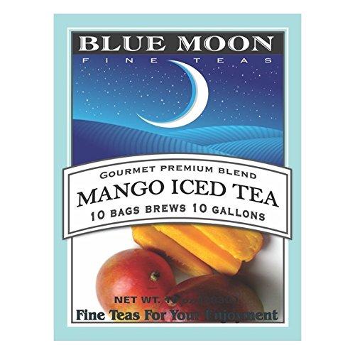 - Blue Moon Iced Tea Bags - Mango Iced Tea 1 Gallon Iced Tea Bags - 10 Pack No Sugar Added