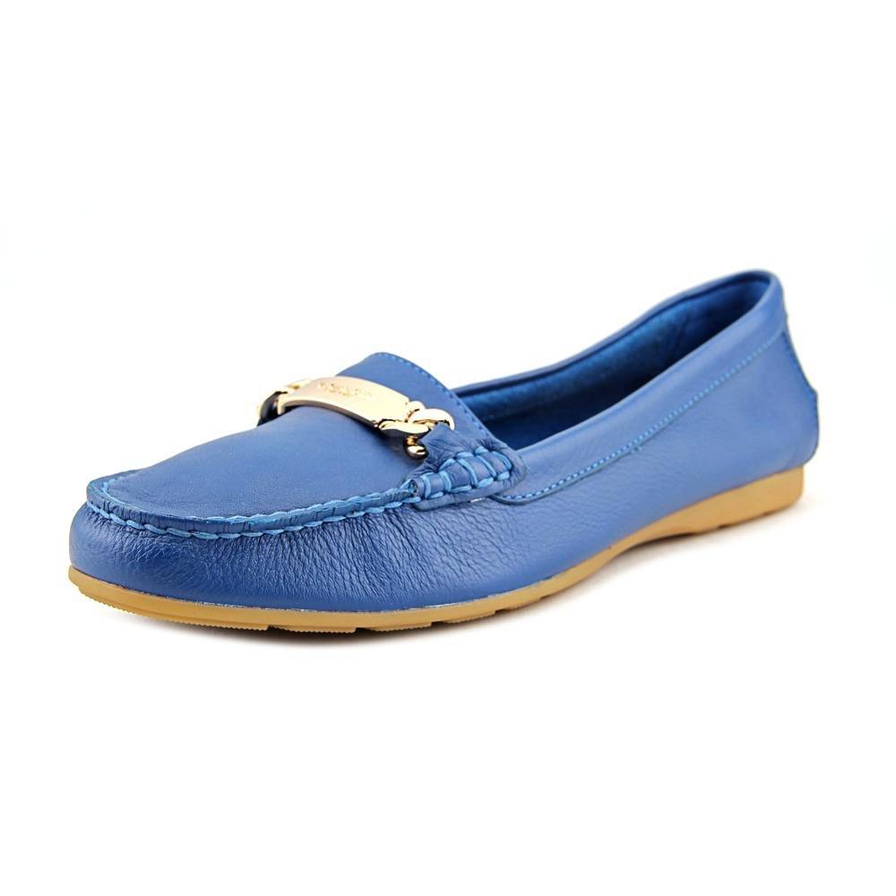 Coach Olive Pebble Grain Women US 9.5 Blue Loafer