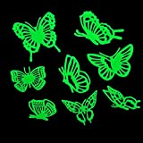 SODIAL(R)Home Decal Glow In The Dark Bedroom Corridor Ceiling Wall Fluorescent Stickers (Butterfly)