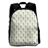 Green Branches Pattern Kid Boys Girls Toddler Pre School Backpack...