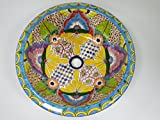 16'' ROUND TALAVERA SINK drop in, mexican bathroom sink, handmade ceramic, mexico folk art