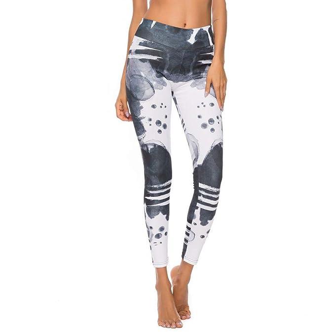 RISTHY Pantalones Yoga Mujer Deportivos Leggins Fitness ...