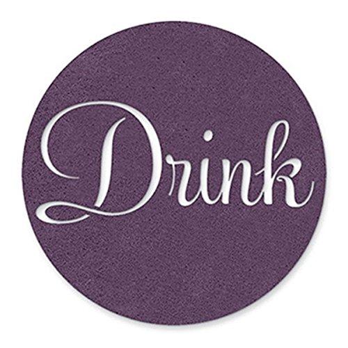(Epic Products Drink Felt Coasters-Purple (Set of 4), Multicolor)