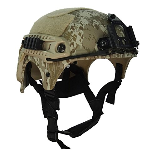 HYOUT Navy Seal IBH Tactical Military Camo Helmets Outdoor Airsoft Paintball Helmets (Of War Gears Helmet)
