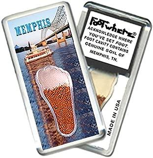 "product image for Memphis ""FootWhere"" Souvenir Magnet (MP203 - Riverboat)"