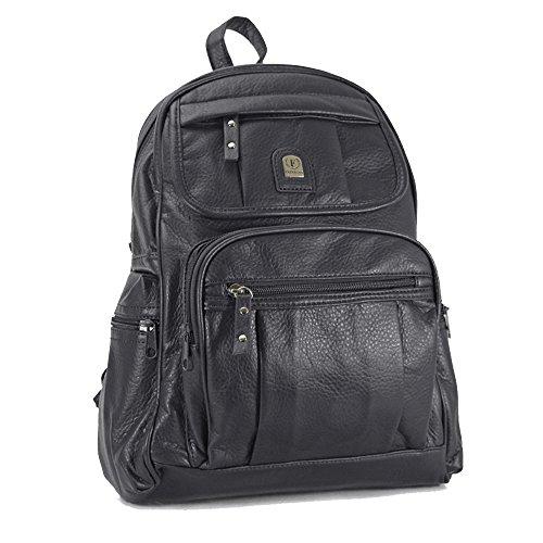 ydezire® Unisex Mini mochila mochila infantil/adolescente mochila escolar colegio bolsa de hombro para mujer negro