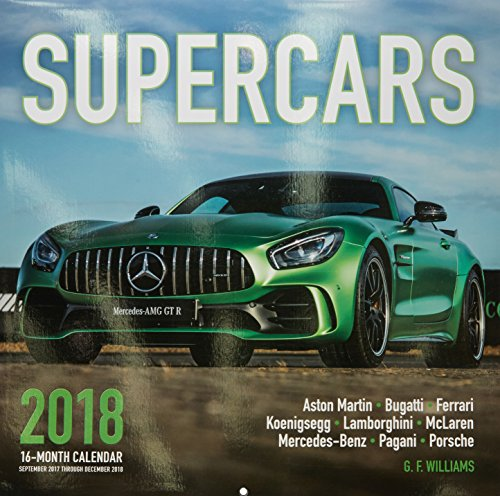 Supercars 2018: 16 Month Calendar Includes September 2017 Through December 2018 cover