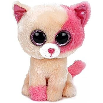 Ty Beanie Boos Cat Plush Muffin Sophie Pepper Frights Tabitha Reagan Buckwheat Big Eyes Stuffed Animal (Anabelle)