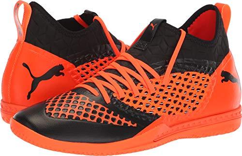 PUMA Men's Future 2.3 Netfit IT Soccer Shoe, Black-Shocking Orange, 11 M US