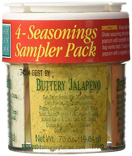 Wabash Valley Farms 4 Seasonings Popcorn Sampler - Cheddar Fat Reduced