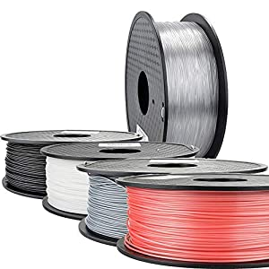 TongLingUSL 3D Printer Filament 1.75 PLA PETG Carbon Fiber Wood ABS PC POM PA Metal ASA Hips Ceramics Nylon (Color : Red, Size : Free) 4