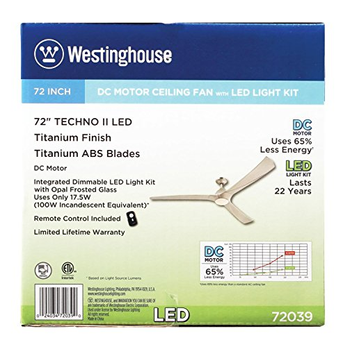 Westinghouse 7203900 Contemporary Techno Ii 72 Inch