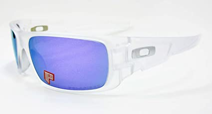 d22375a49f Image Unavailable. Image not available for. Color  Oakley Crankshaft  Sunglasses Violet Iridium Polarized Matte Clear