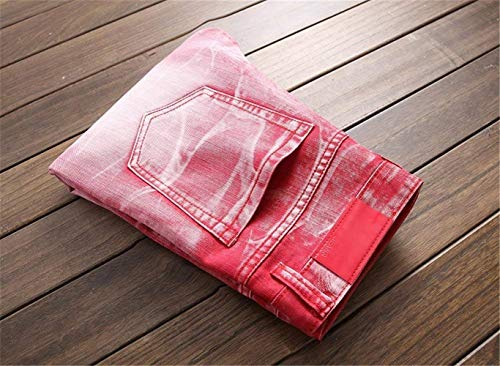 Denim Casuale Estilo Orifizi Uomini color Retrò 32l Essentials Gamba Rot 38 Cher Pantaloni Jeans Lavato Especial Size Rette wAfARYxq