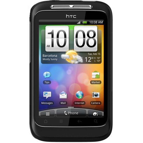 HTC A510E-BLK Wildfire S Unlocked Smartphone with Android OS, 5MP Camera, Touchscreen, Wi-Fi, GPS - No Warranty - ()