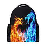 ALAZA Dragon Fire Casual Backpack Waterproof Travel Daypack School Bag