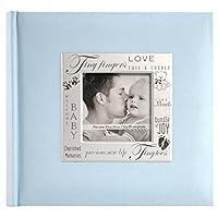 MBI 8.5x8.5 pulgadas Expresiones en tela Libro de recuerdos, azul bebé (846610)
