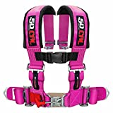 50 Caliber Racing Pink 4 Point Harness with 2'' Straps for Cars, Trucks, UTV and Off Road Vehicles [6008-A2]