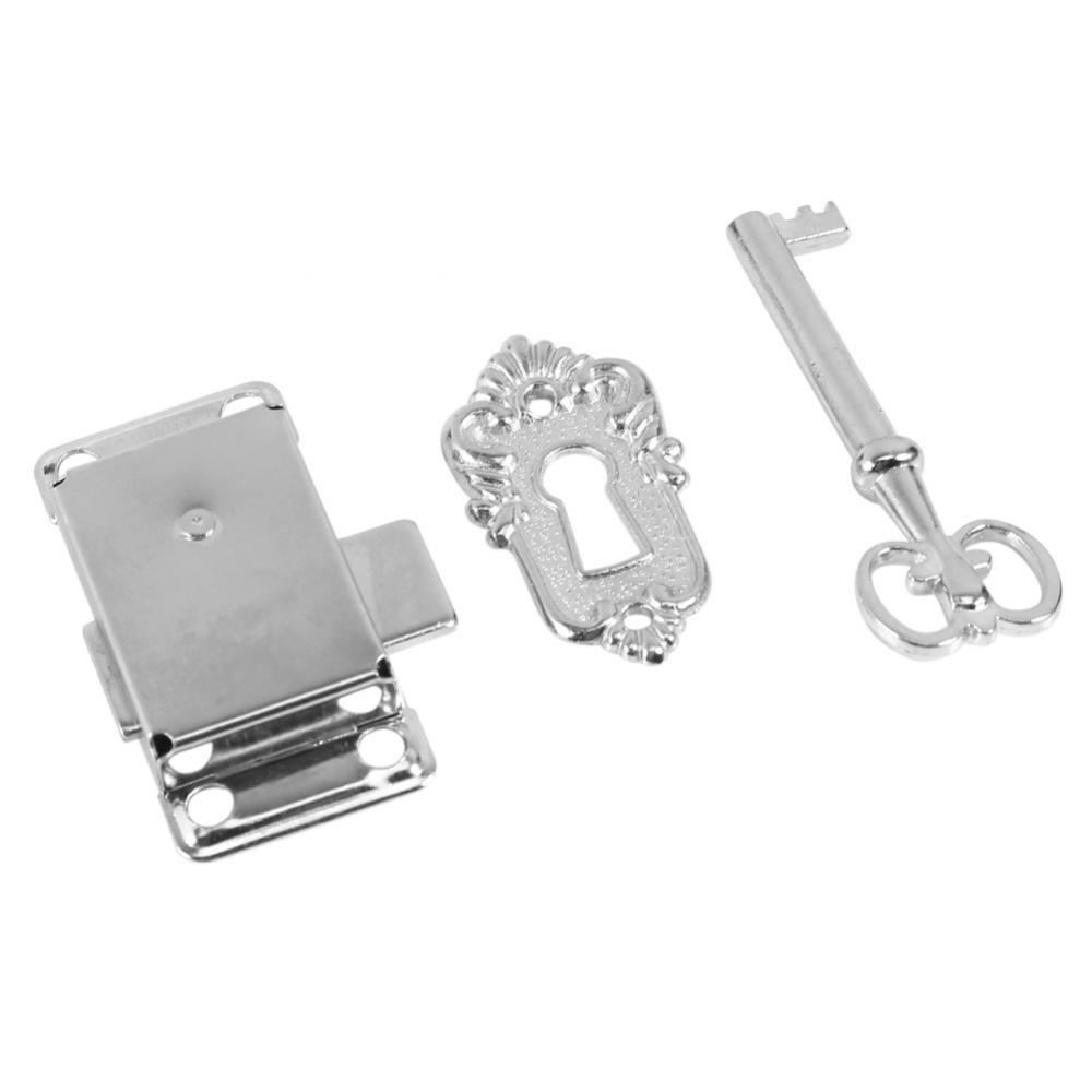 GLOGLOW 2Pz antico serratura armadio,Chiavistello per serratura porta Con chiave, in acciaio inossidabile