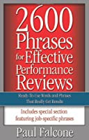 2600 Phrases for Effective Performance Reviews Front Cover
