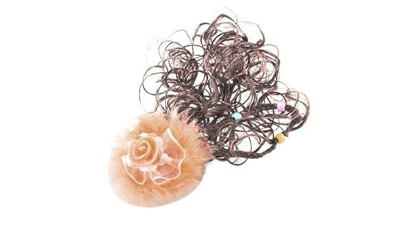 Amazon.com: eDealMax niña Flor de Los cabritos Naranja Faux Feather ondulada peluca trenza francesa Clip 2 piezas: Health & Personal Care