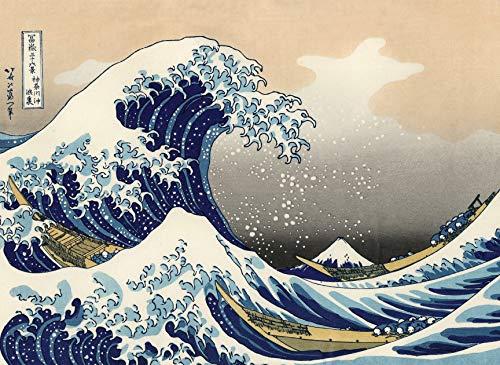 (The Great Wave Off Kanagawa by Katsushika Hokusai - Japanese Fine Art Wall Poster (Laminated, 18