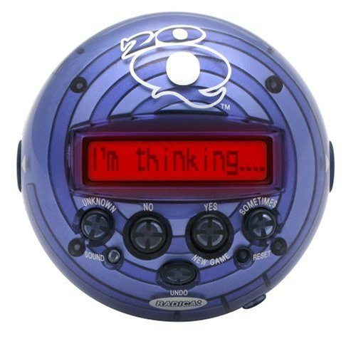 Radica 20Q Artificial Intelligence Game - Colors may vary since the item may come in 3 different colors by Mattel