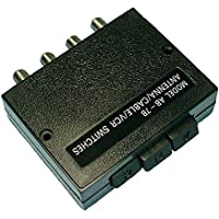 Philmore Deluxe High Isolation 3-Way Coaxial A/B Switch Fully Shielded with Zinc Die Cast Inner Case