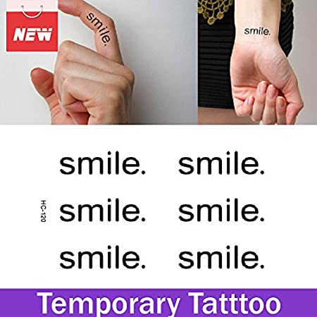 Oxita (TM) 1 hoja Smile palabra impermeable pegatinas impermeable ...