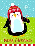 Caroline's Treasures VHA3015GF Merry Christmas Happy Penguin Flag Garden, Small, Multicolor For Sale