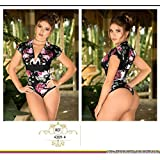 Moda Colombiana Womens Body Shaper Blouse Blusa Fajas Colombianas Ab Control Ref 4309 ONE SIZE