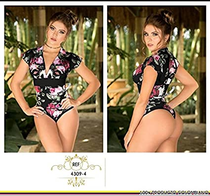 Moda Colombiana Womens Body Shaper Blouse Blusa Fajas Colombianas Ab Control Ref 4309 ONE SIZE (