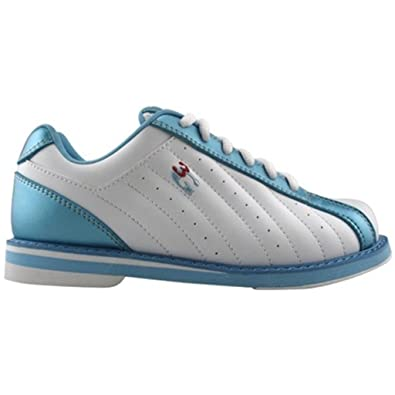 3G Kicks Ladies White/Blue Bowling Shoes (7 1/2)