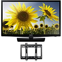 Samsung UN24H4000 24-Inch 720p LED TV (2014 Model) w/ FREE WALL MOUNT, w/ 1 YEAR EXTENDED CPS LIMITED WARRANTY ($34.99 VALUE) (Certified Refurbished)