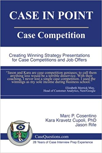 Buy Case in Point: Case Competition: Creating Winning