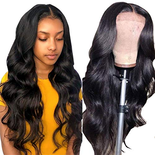 Alipearl Hair Deep Part Lace Closure Wig Body Wave 6x6 Closure Wig 150% Density Pre Plucked 8A Brazilian Human Hair Wigs With Baby Hair For Black Women Ali Pearl Hair Wig(24 inch)