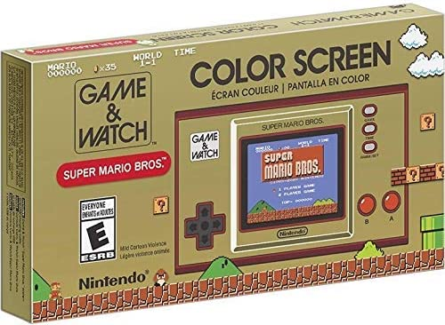 "Nintendo Game & Watch: Super Mario Bros, 2.36"" Full-Color LCD Screen, Christmas Holiday Bundle for Game Watch Super Mario thirty fifth Anniversary, TWE Cleaning Cloth& USB Extension Cable"