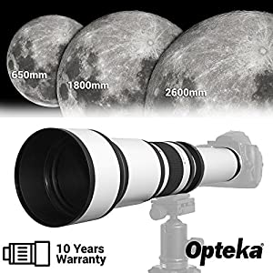 Opteka 650-2600mm High Definition Ultra Telephoto Zoom Lens for Sony E-Mount Digital Cameras + Premium 10-Piece Cleaning Kit from Opteka