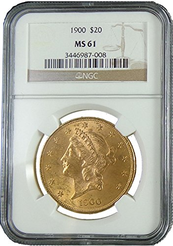 1900 Liberty Head Twenty Dollar NGC MS-61