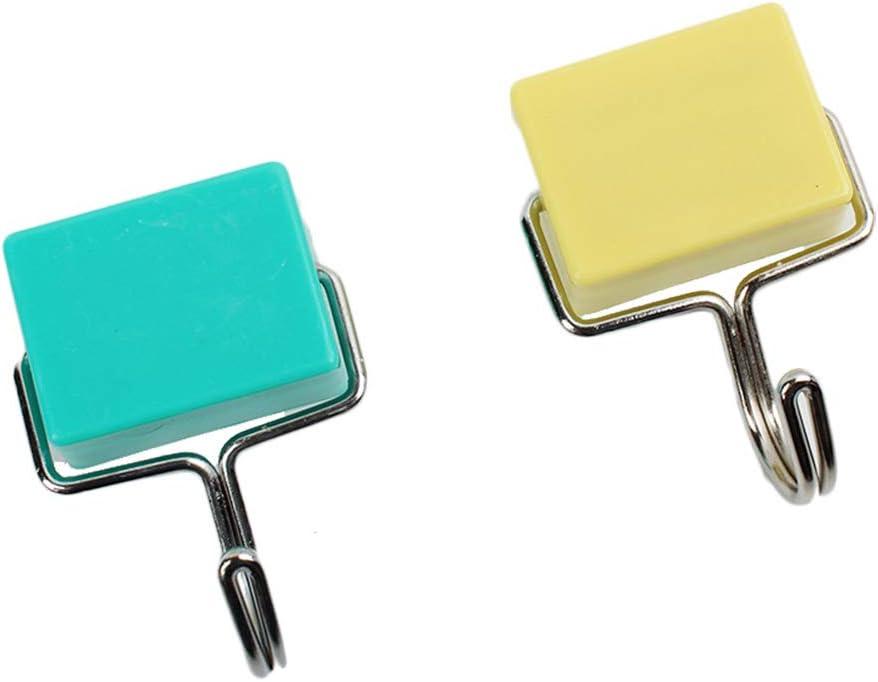 Haodou 2 Piezas Creativo Súper Fuerte Succión Magnética Enganche Arriba Horno de Microondas Imán de Refrigerador Uñas Libres Ganchos de para Colgar Perchas (Color: Aleatorio)