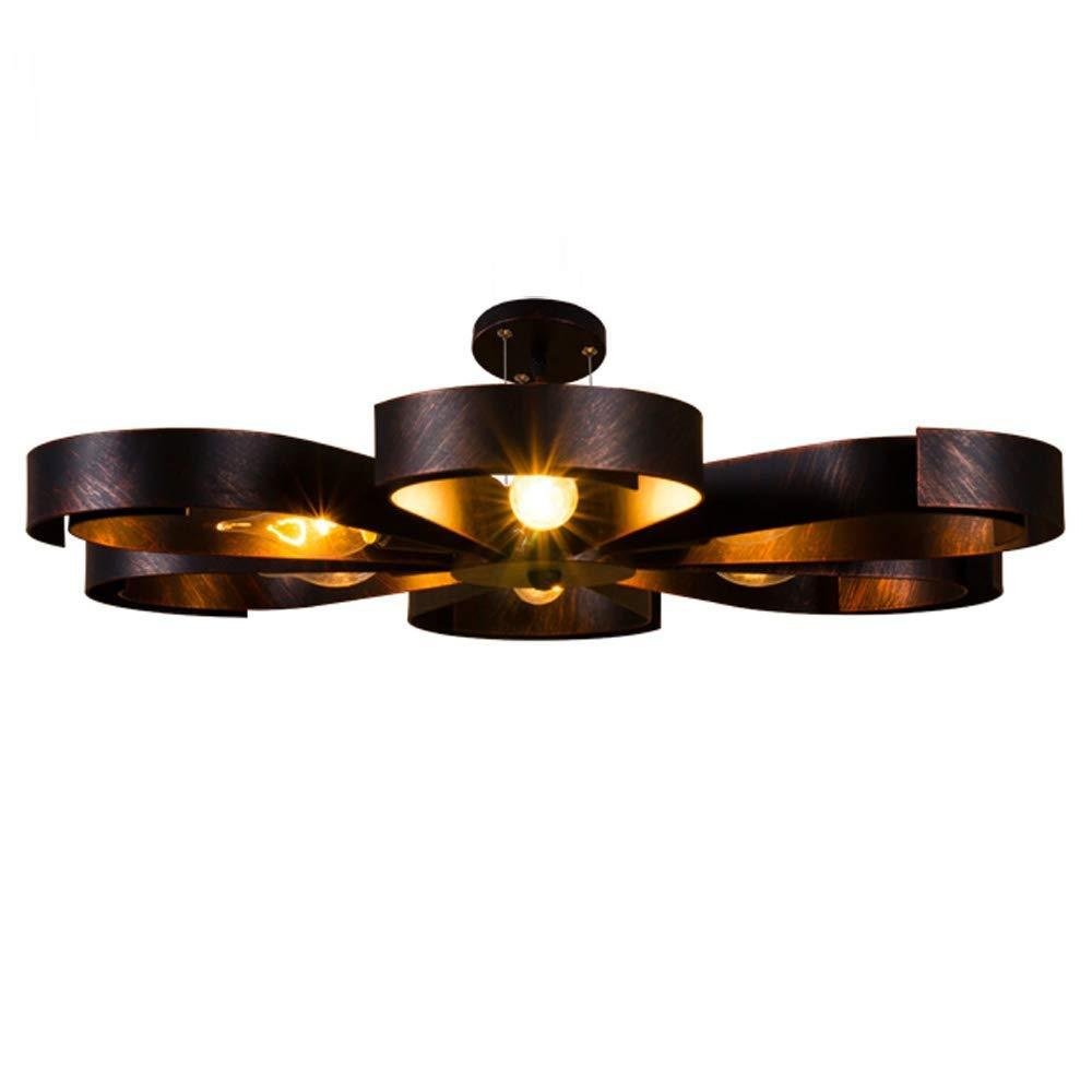 Vintage Industrie Metall Lampen Rustikal Deckenlampe Antik für Landhaus Schlafzimmer Küchen Wohnzimmer Esstisch Decken Licht Schwarz Ring Design E27 Decken Leuchte