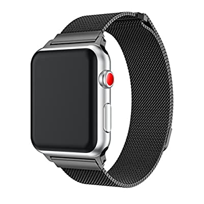 Apple watch bands 38mm/42mm wristband Milanese Stainless Steel Mesh Loop with Adjustable Magnetic Closure Replacement iWatch Band Bracelet Smart Strap Series 3/2/ 1