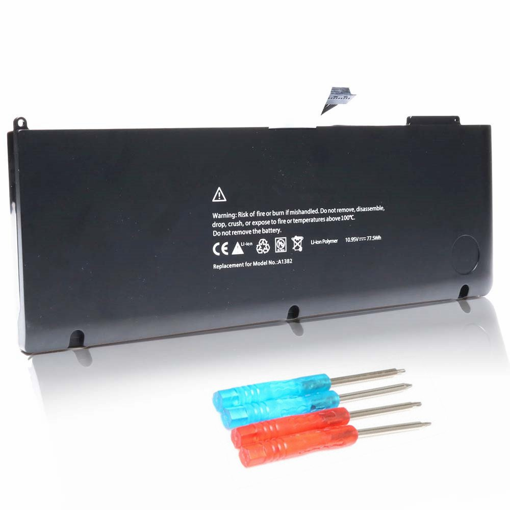 Edofiy A1382 New Battery for Apple A1382 A1286(only for Early 2011 Late 2011 Mid 2012) MacBook Pro 15'' Core i7 MC721 MC723 MB318 MD103661-5476 661-5211 [10.95V 77.5Wh]