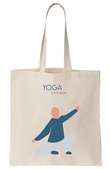 Yoga Is In My Blood 2 Canvas Tote Bag: Amazon.es: Zapatos y ...