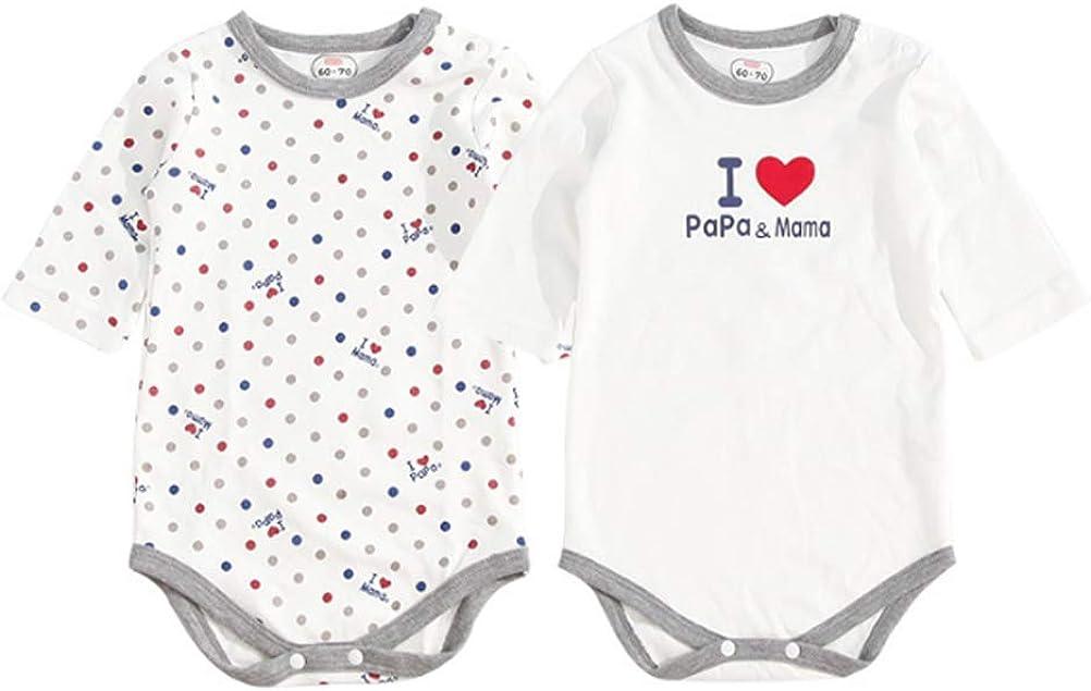 Odziezet 2 Pi/èces Coton Bodysuit T-Shirt /à Manche Courte B/éb/é V/êtement de Naissance Gar/çon Fille